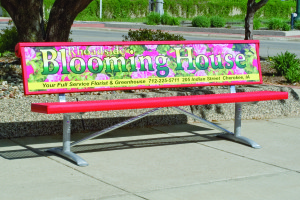 Advertise Your Company with the New Custom Signage Bench from Pilot Rock