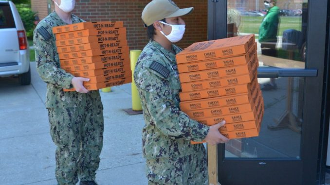 Training Support Center Great Lakes Holds Unique Pizza Party